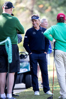 Bernhard Langer entertaining Amateurs on the 14th tee