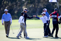 Amateurs Shea and Tilas playing with Bernhar Langer