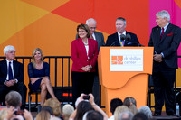 Orlando Mayor Buddy Dyer, Orange County Mayor Theresa Jacobs and other speakers