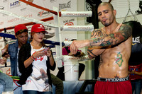 Miguel Cotto and wife Melissa at the Don Miguel Boxing Gym in Orlando